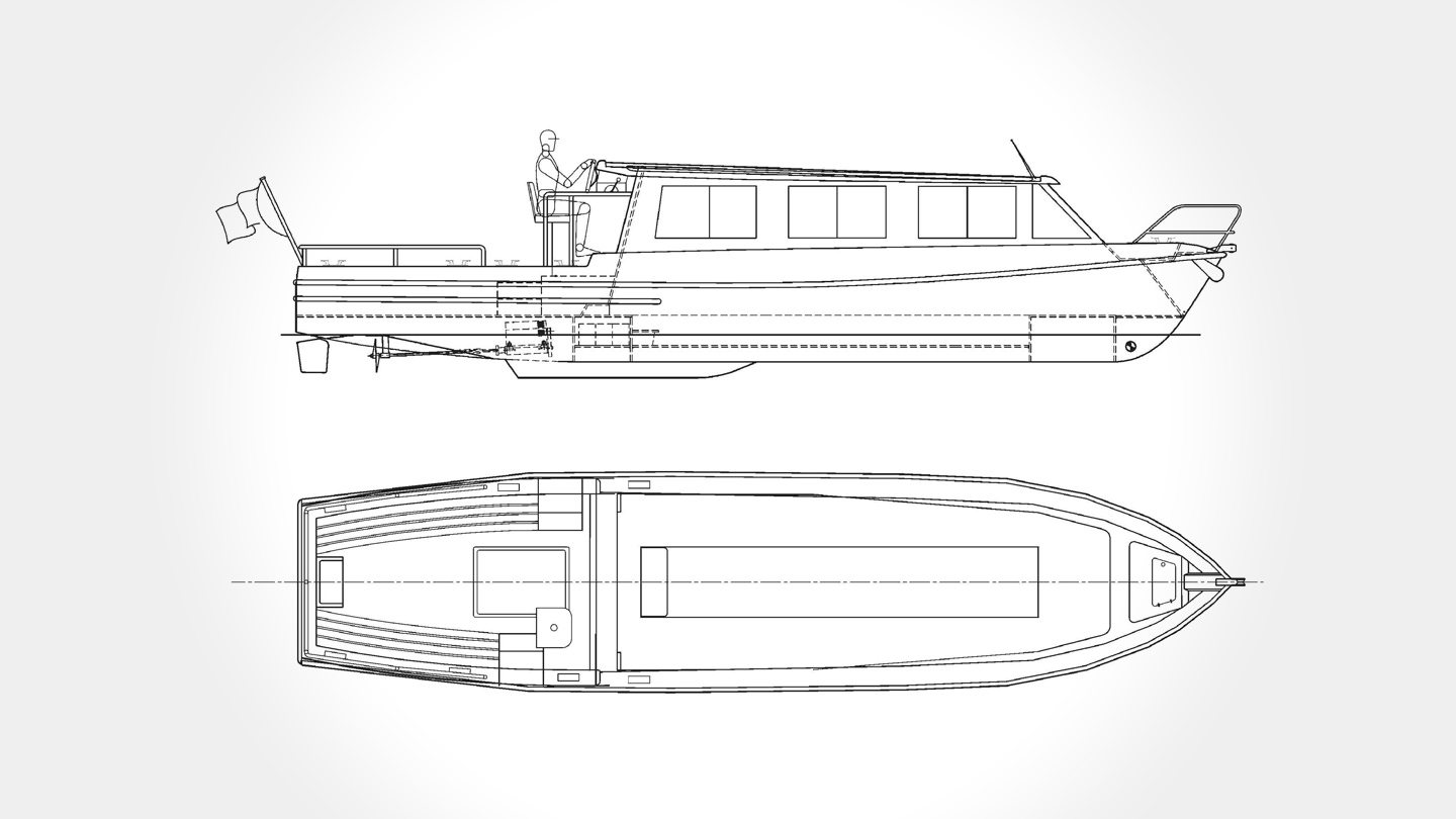 Aquabus 1050T Electric Boat diagram