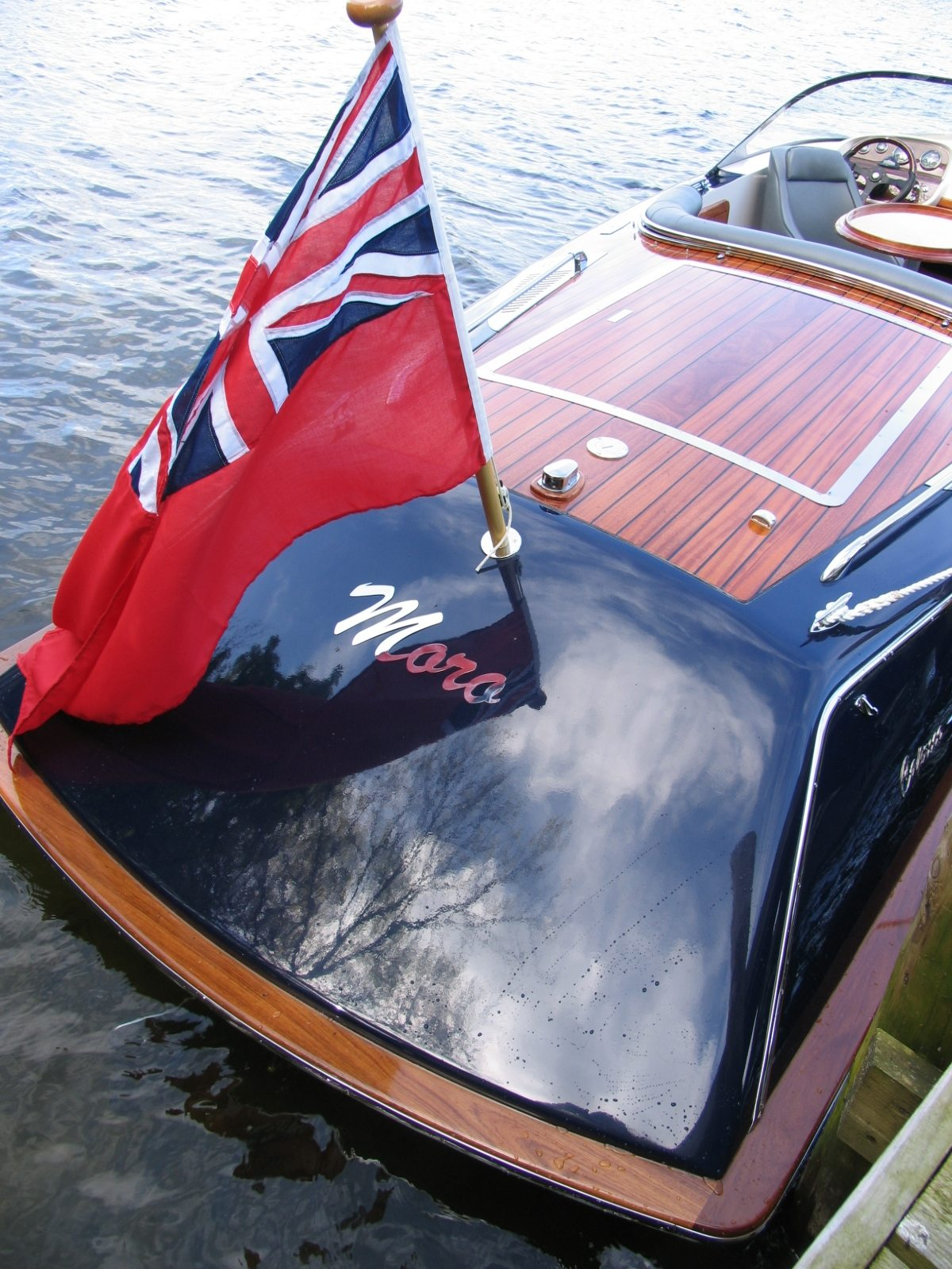 An new build electric boat Caprice